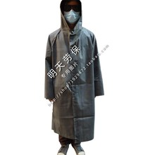 Wholesales Rubber raincoat with sleeves one piece vintage poncho thickening canvas Burberry old fashioned rubber rain