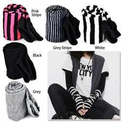 Женские эластичные мягкие теплые перчатки без пальцев с длинными рукавами