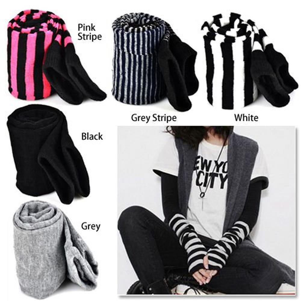 Fingerless gloves cotton - Lady Stretchy Soft Arm Warmer Long Sleeve Fingerless Gloves China Mainland