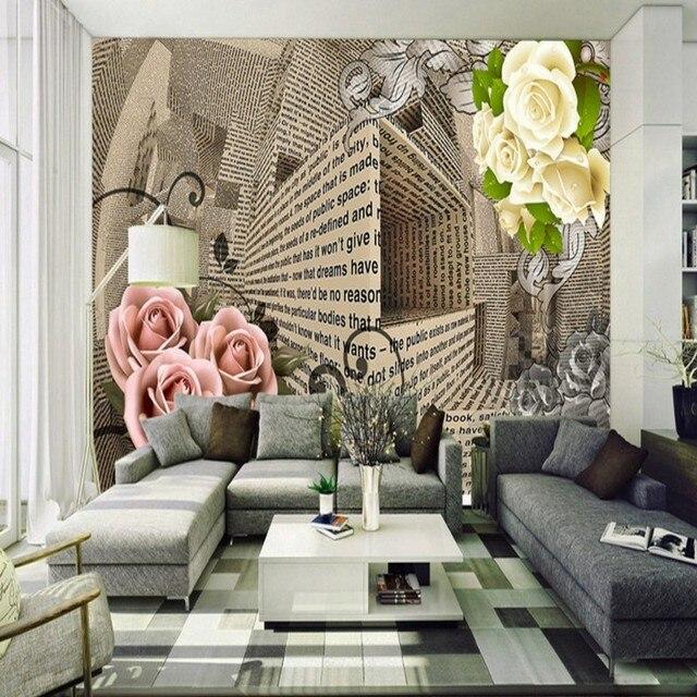 fototapete 3d stereo raum rose br ckenbau r mischen s ule. Black Bedroom Furniture Sets. Home Design Ideas