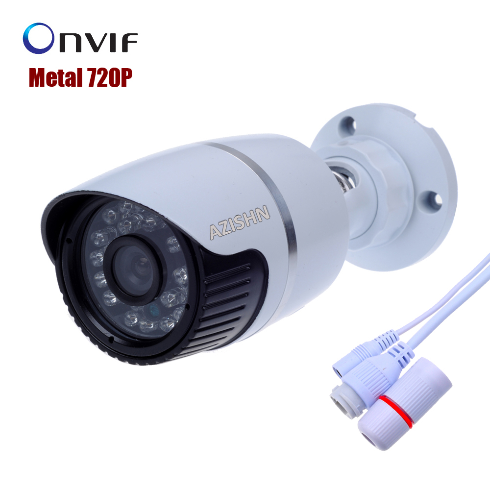 Surveillance IP Camera metal bullet camera  waterproof  720P Securiy HD 24IR CCTV Camera Mega pixel outdoor Network  ONVIF H.264 bullet camera tube camera headset holder with varied size in diameter