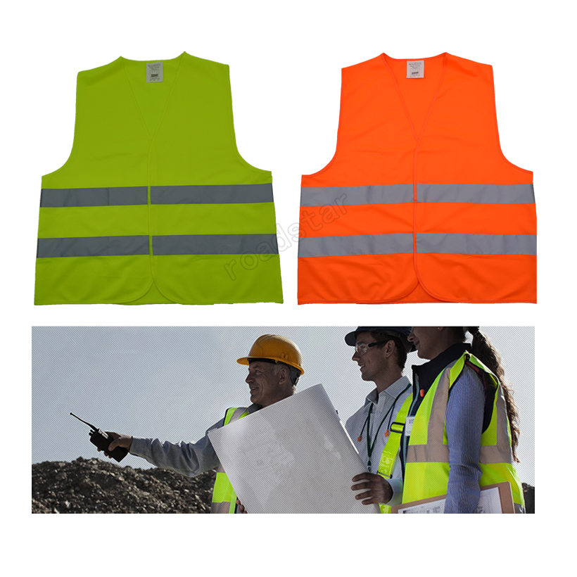 Hot Sale Reflective Vest with Closure Design for Road Construction& Outdoor Activities Free shipping