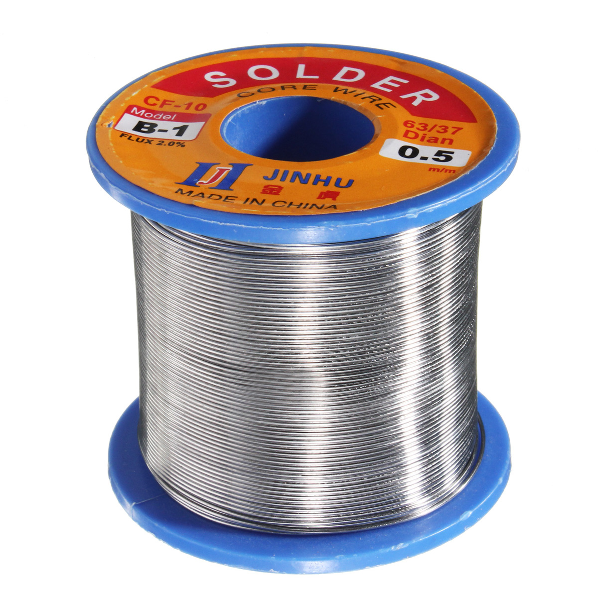 300g 0.5mm Soldeing Wire Welding Wire 63/37 Tin Lead 2.0% Flux Roll Reel Solder Tools