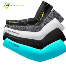 ROCKBROS Summer Sport Sleeves Women Men Anti-UV Arm Warmers Cycling Basketball Running Bike Arms Sleeves Sport Accessories