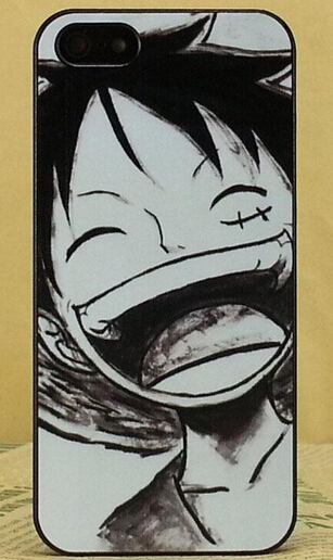 Hot Item Comics One Piece Luffy Portrait Pencil Sketch Phone Case for iphone 4/4s 5c 5/5s 6/6s 6/6s plus Customized Supported