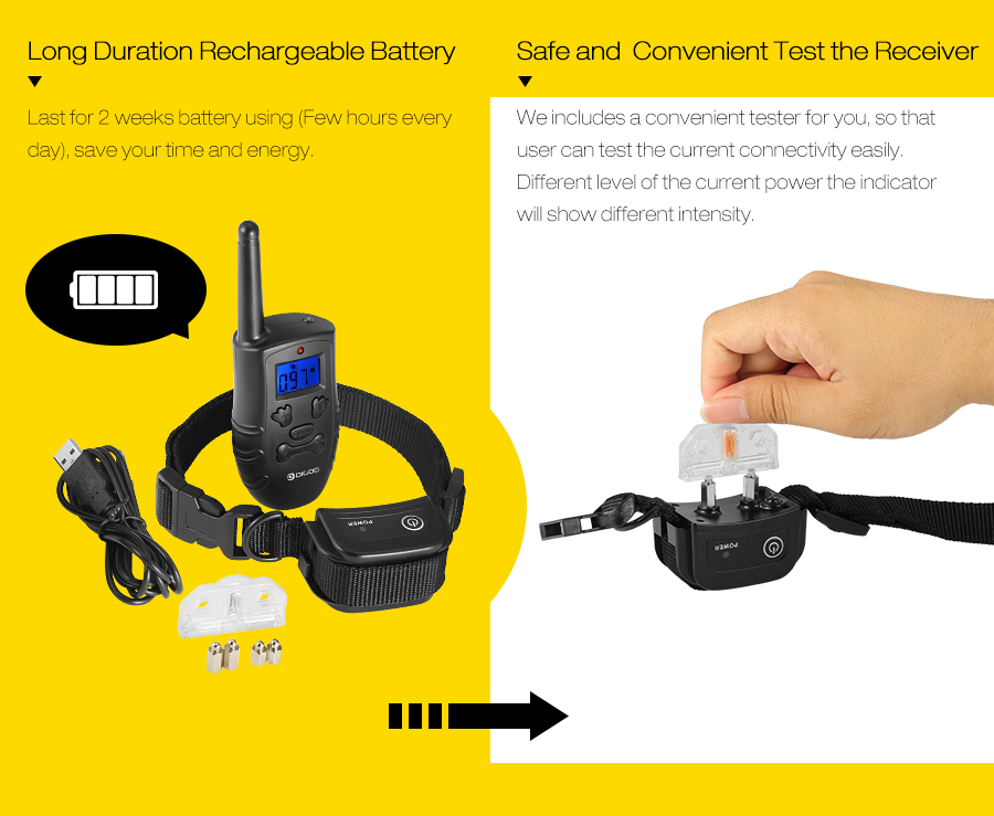 Digoo DG PPT1 Rechargeable Electronic Dog Training Collar with Vibration and Static Stimulation 13