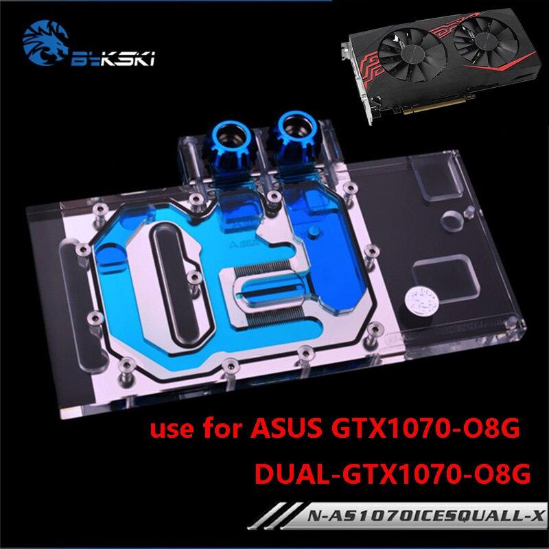 BYKSKI Cobertura Completa uso Bloco de Resfriamento De Água Do Radiador da Placa Gráfica para ASUS GTX1070-O8G-SI/GAMING/DUAL GTX 1070-O8G RGB luz