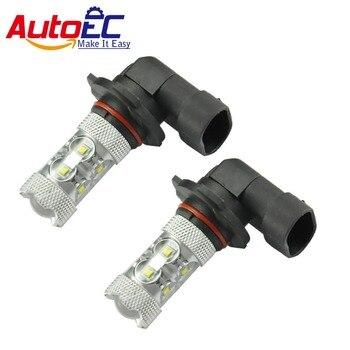 AutoEC 100 x Car fog light h10 50w 9140 9145 led  high power car Front Daytime Running Light DRL White DC12v #LI09