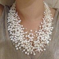 Роскошный стиль преувеличены Цепочки и ожерелья натуральный жемчуг Цепочки и ожерелья 39 слой star pearl Цепочки и ожерелья