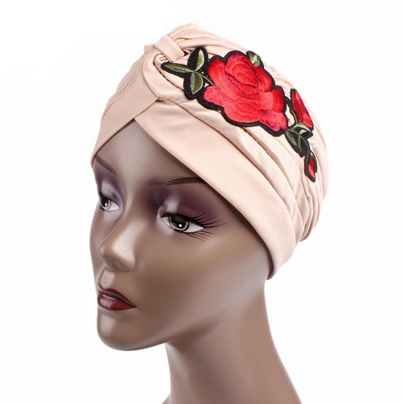 Fashion Women Comfy Vogue Gold Velvet Muslim Headscarves Headdress India Hat