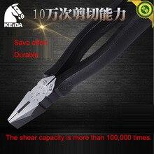 Оригинальные японские тиски KEIBA, P-106, 150 мм(6 дюймов), Электрические плоскогубцы с плоским носом для резки, обжимные Зажимные инструменты