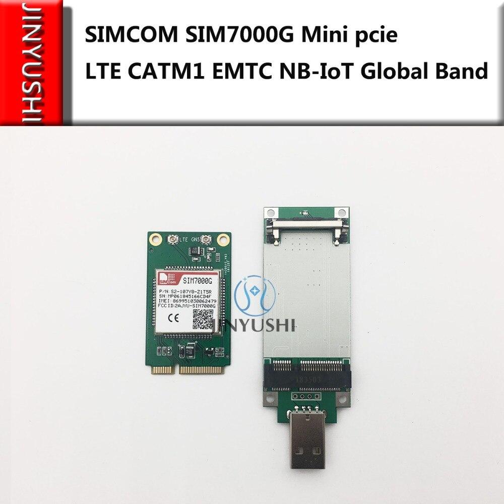 SIMCOM SIM7000G Mini Pcie+USB Adapter LTE CATM1 EMTC NB-IoT Global Band For SIM7000A/ SIM7000E Competitive With SIM900/SIM800F