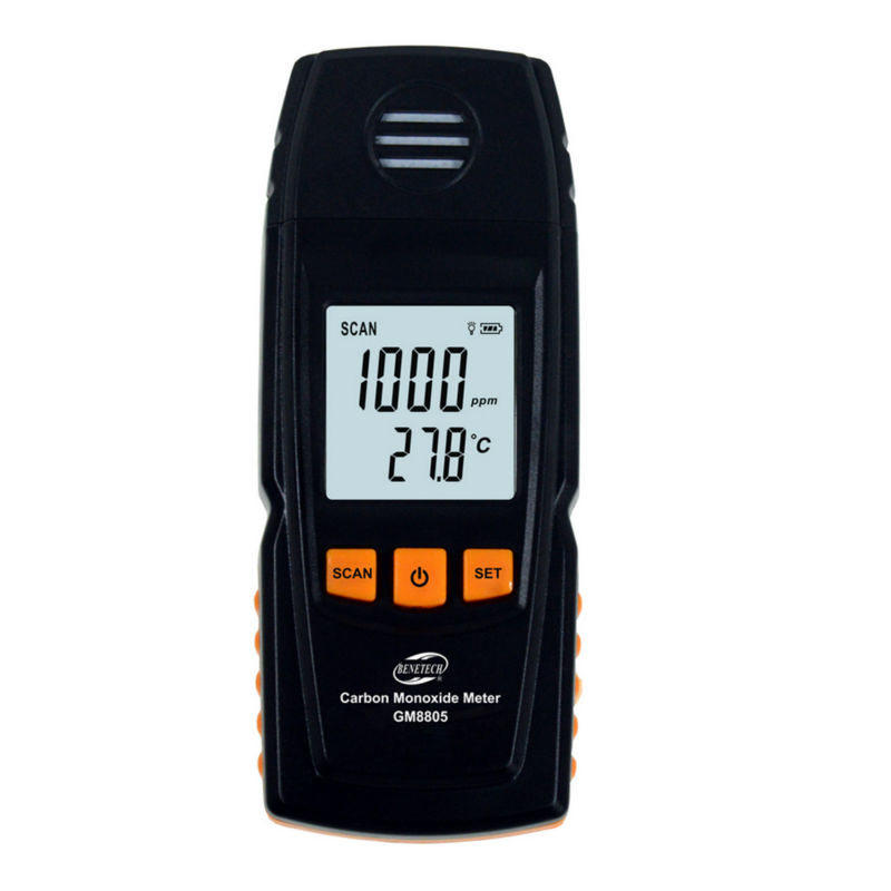 GM8805 Carbon Monoxide Meter with High Precision CO Gas Tester Monitor Detector Gauge 0-1000ppm  цены
