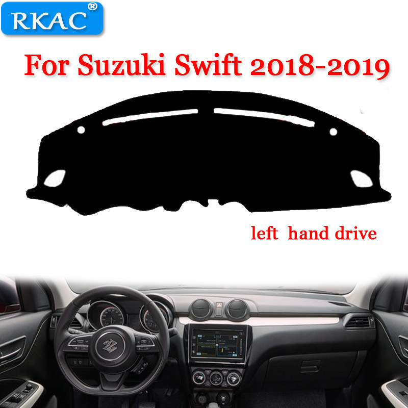 RKAC CUTSOM For Suzuki Swift 2018-2019 Left Hand Drive  Car Styling Covers Dashmat Dash Mat Sun Shade Dashboard Cover Capter