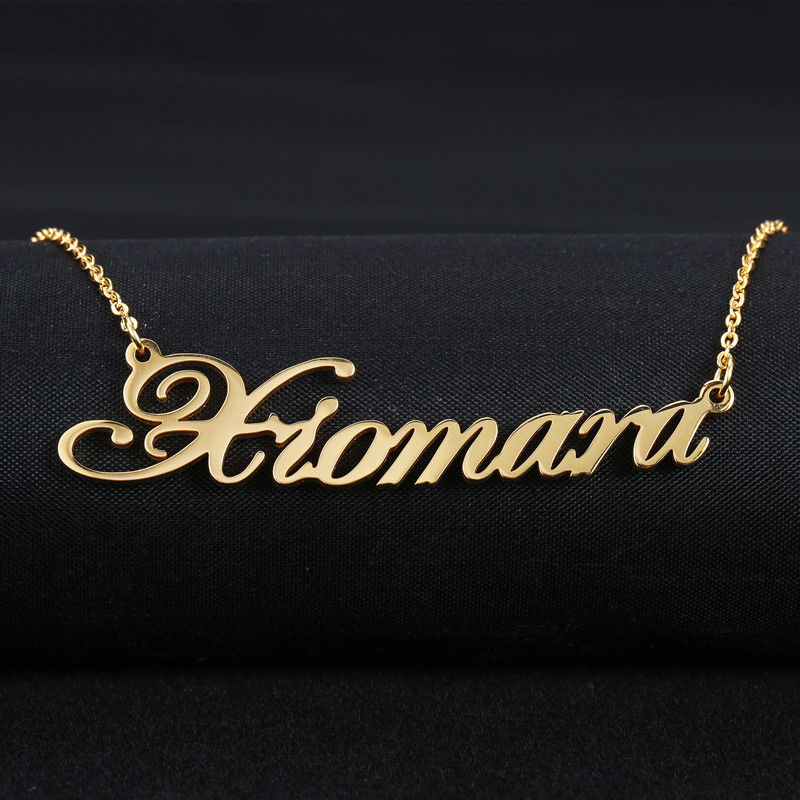 Custom Necklace Personalized Choker Necklace For Women Copper Name Necklace Dropshipping Supplier for Etsy