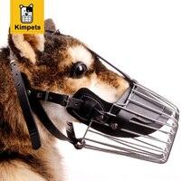 Kimhomeペット強い金属ワイヤーバスケット犬銃口バスケットデザインアンチか