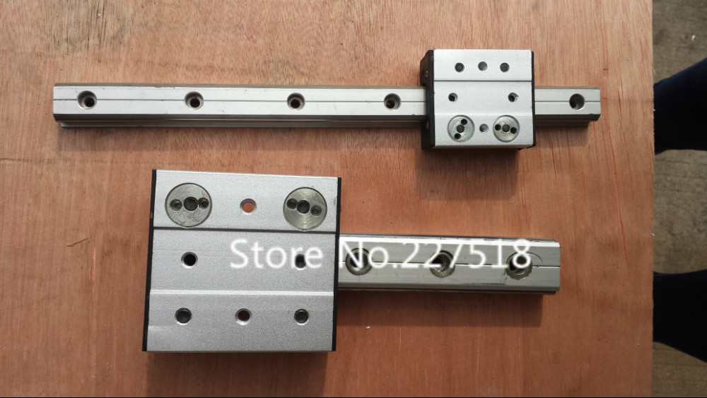 High speed linear guide roller guide external dual axis linear guide OSGR30 with length 500mm with OSGB30 block 100mm length high speed linear guide roller guide external dual axis linear guide lgd12 with length300mm with lgd12 block 100mm length