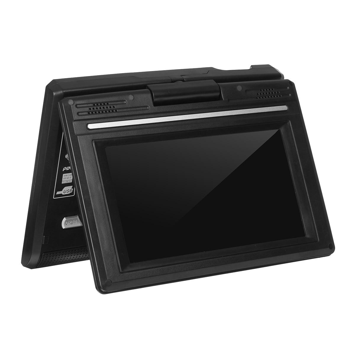 Portátil de 7,8 pulgadas HD TV casa coche reproductor de DVD VCD CD MP3 DVD USB SD reproductor de tarjetas RCA TV Portatil juego de Cable 16:9 pantalla LCD giratoria - 2
