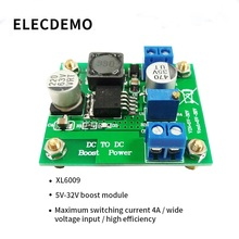 XL6009 DC-DC Boost Module Power Regulator Module Output Adjustable Super LM2577 4A Current Function demo board 1 pcs mt3608 dc dc adjustable boost module 2a boost plate step up module with micro usb lm2577 replace xl6009