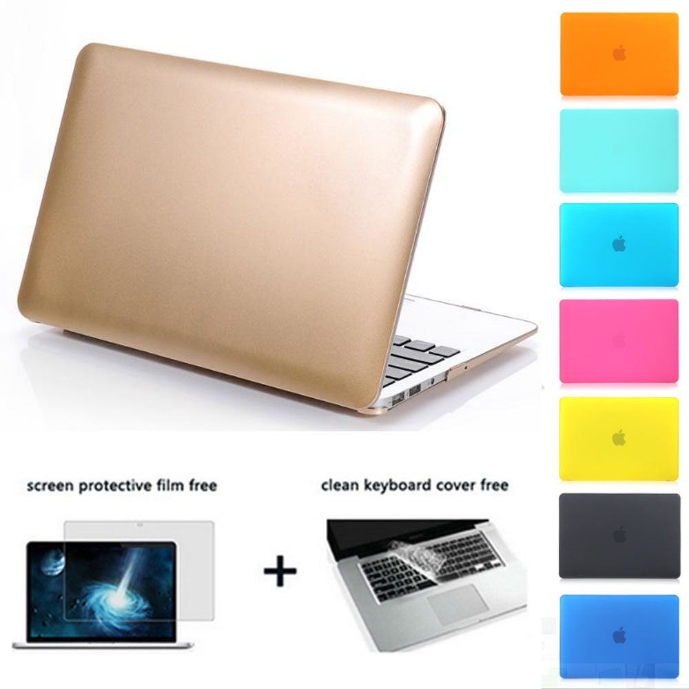 frosted matte Gold laptop sleeve protective shell for mac book pro retina air 11 13 15