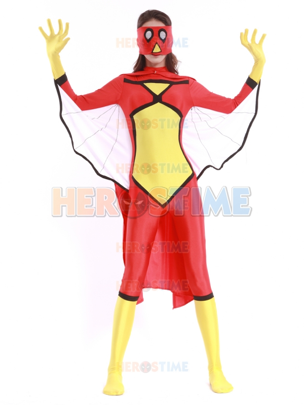 Cosplay Comics Spider Woman Superhero Costume Popular Lady Spandex Spiderwoman Costume with Cape and Mask Kids Avaible