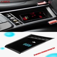 QI wireless charging box For bmw x1 f48 X2 f47 f39 2016 2017 2018 Central Storage Pallet Armrest Container Box car Accessorie