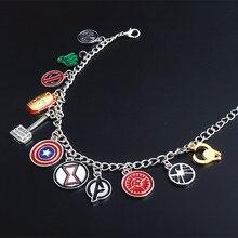 Новые мстители эндшпиль Капитан Америка Железный человек Косплей-браслет Marvel поклонников Для женщин Для мужчин металлический брелок Подвеска Браслет
