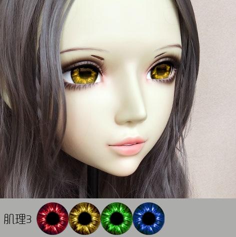 Flight Tracker gl061 Sweet Girl Resin Half Head Bjd Kigurumi Mask With Eyes Cosplay Anime Role Lolita Mask Crossdress Doll Sufficient Supply