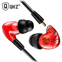 QKZ DM300 Earphones Headsets HIFI Stereo Music Earphones eith Mic Sports Running in Ear Earphone Sports Wire for MP3 Player
