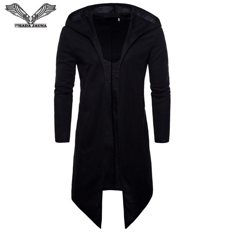 VISADA JAUNA Trench Coat Men Spring Fashion Casual Long Windbreaker Slim Fit Trench Coat Plus Size Men 2018 Overcoat N8884