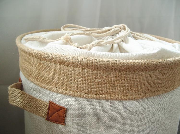 Picnic Basket Stand Laundry Basket Toy Storage Box Super Large Bag Cotton Washing Dirty Clothes Big Basket Organizer Bin Handle (6)