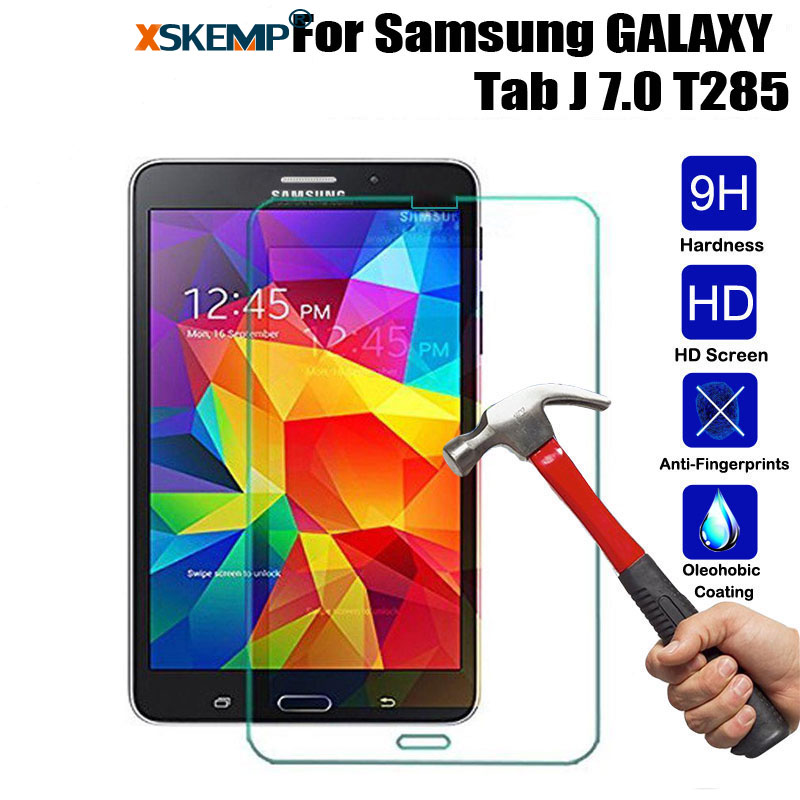 XSKEMP 9H Explosion-Proof Toughened Tempered Glass For Samsung GALAXY Tab J 7.0 T285 Tablet PC Film Screen Protector Cover GuardXSKEMP 9H Explosion-Proof Toughened Tempered Glass For Samsung GALAXY Tab J 7.0 T285 Tablet PC Film Screen Protector Cover Guard