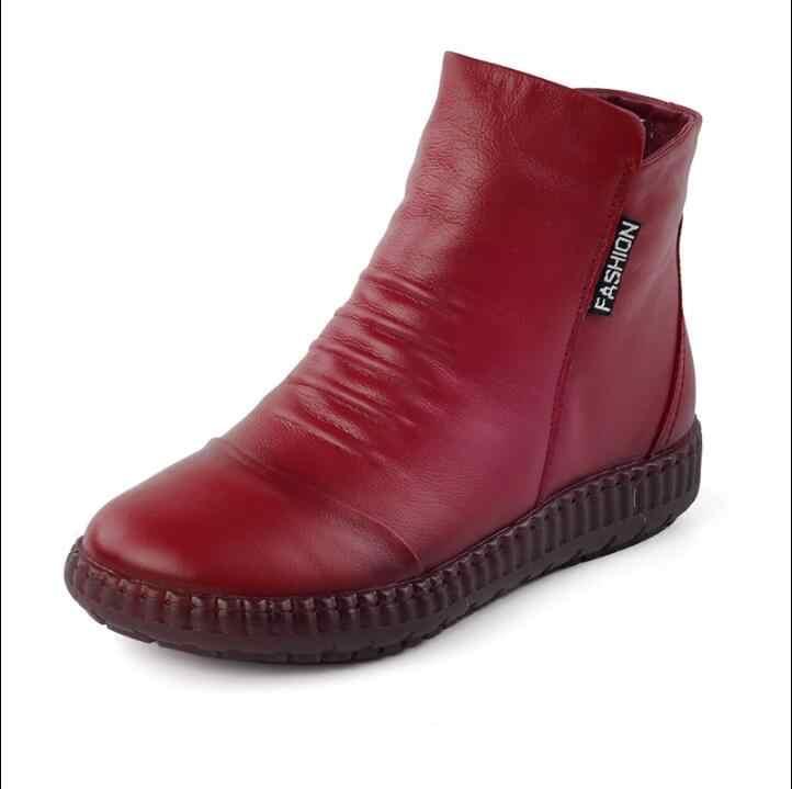 Akexiya Sıcak Satış Ayakkabı Şövalye çizmeler Hakiki Deri Ayak Bileği Ayakkabı Bağbozumu rahat ayakkabılar Marka Tasarım Retro El Yapımı Bayan Botları Bayan