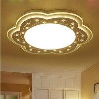 Z Современные Простые творческий ультратонкий кристалл потолочный светильник цветок дизайн формы Теплый Романтический светодиодный спаль