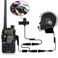 Walkie Talkie Motorcycle Full Face Helmet Headset Earpiece For Two Way Radio Baofeng UV 5R UV