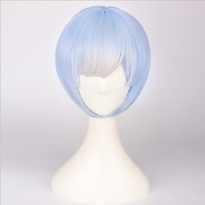 Image 5 - Re:Life In A Different World From Zero Graduated Ram Rem Cosplay Wig for Women Short Straight Pink Blue Anime Wig