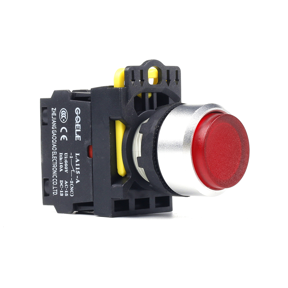 5 PCS Push button switch Extended button LED Latching IP65 1NO 1NC 1NO+1NC 2NO 2NC LA115-A2-11HD-G28 15a 250vac v 15 1c25 push button spdt 1no 1nc micro switch 10pcs