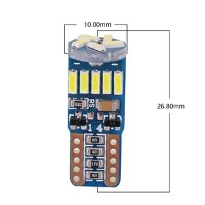 Image 2 - 100 sztuk W5W T10 15SMD 4014 led canbus nie błąd led T10 canbus W5W led światło bagażnika lampka drzwi led uniwersalny lampka do czytania