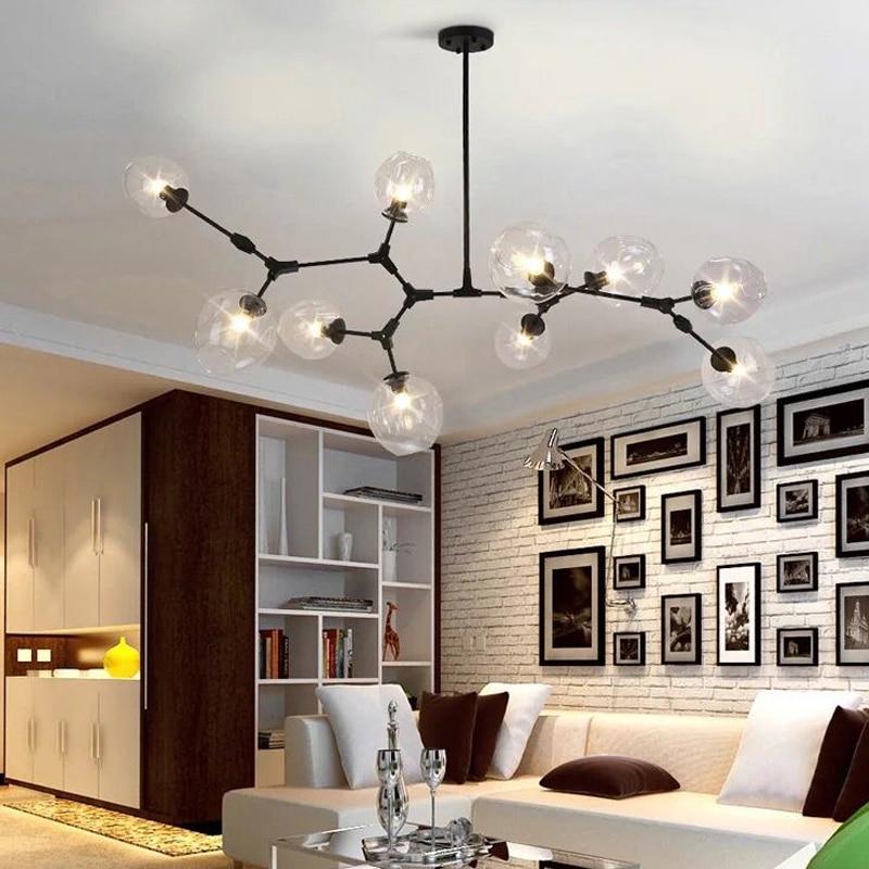 modern e27 led ceiling lamps black gold bar stair dining. Black Bedroom Furniture Sets. Home Design Ideas