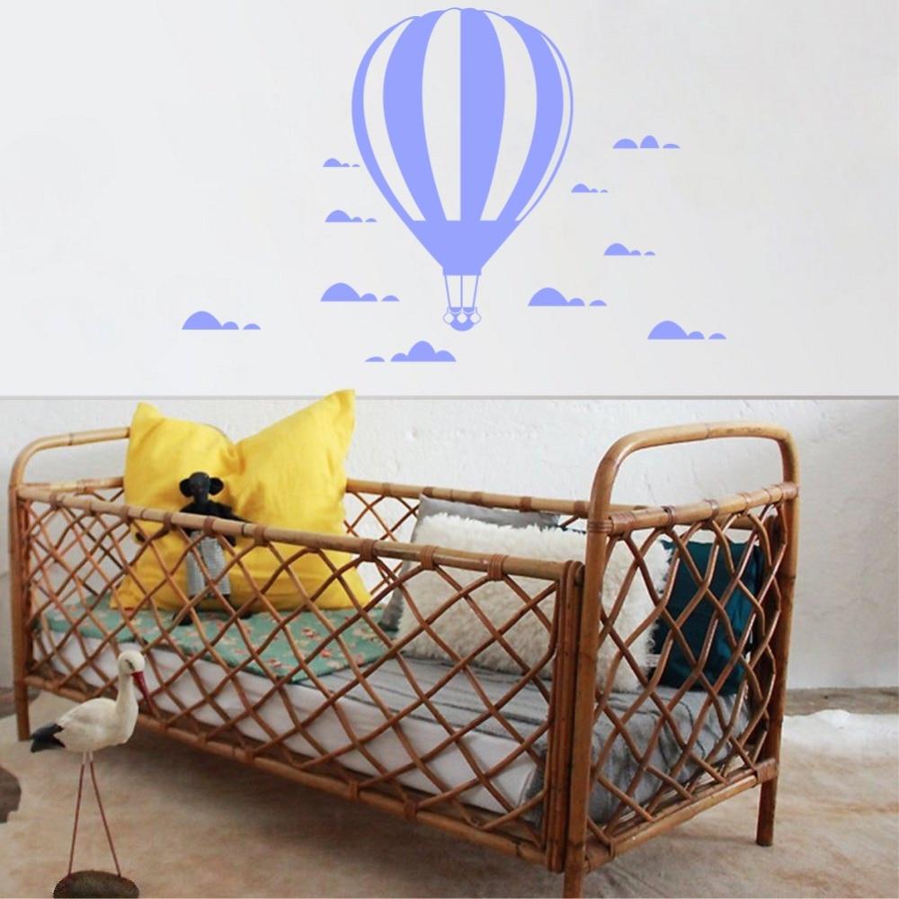 İsti hava balonu divar yapışdırıcıları Uşaq otağı ev - Ev dekoru - Fotoqrafiya 2