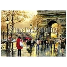 5D Diy Diamond Painting Arc De Triomphe Cross Stitch Embroidery Wall Sticker Mosaic France landscape Crafts Rhinestone