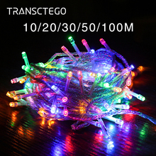 Outdoor Led String Lights 10M 20M 30M 50M 100M Garland String Fairy Light 8 Mode Holiday Wedding Party Decoration Christmas Lamp led decorative street garland string fairy light 10 20m 30m decoration for christmas tree garden wedding new year holiday lights