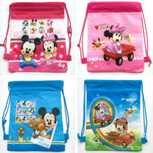 ef687fbce05 2018 NEW 12pcs Cartoon Baby Mickey minnie mouse non-woven bag fabrics drawstring  backpack