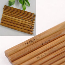 12Pcs Sweater knitting Circular Bamboo Handle Crochet Hooks Smooth Weave Craft Needle Hot Sale