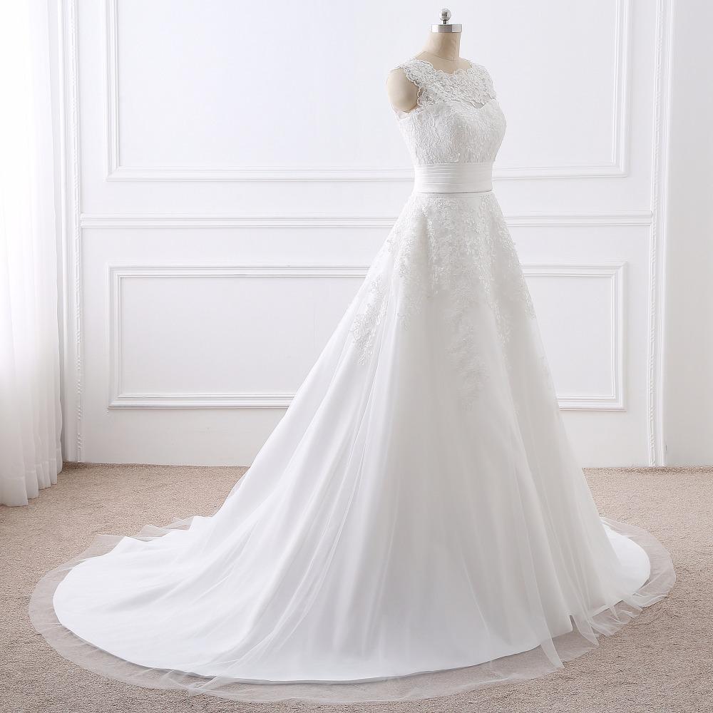 Luxus Hochzeitskleid Real Photo Günstige Brautkleider Spitze Brautkleider  Abnehmbaren Rock A line Abnehmbarem Rock freies Verschiffen in Luxus ...