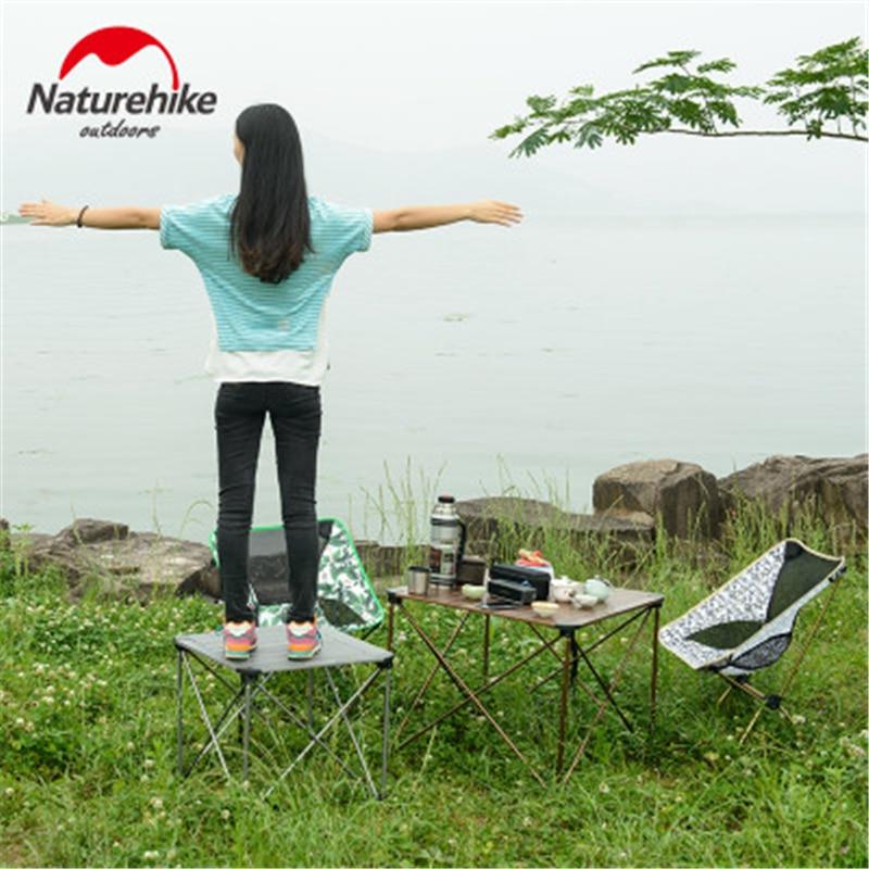 Naturehike открытый складной столик для кемпинга открытый рыбалка кемпинг столы портативный легкий алюминиевый стол Кемпинг Пикник парк - 6