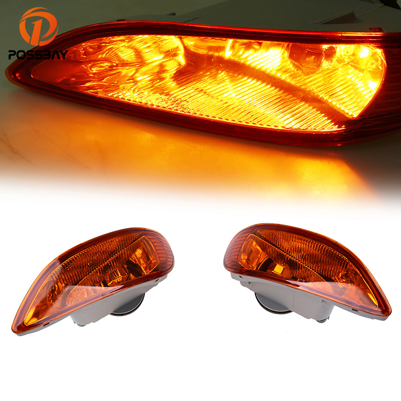 POSSBAY Car Front Light Fog Lamp Assembly Yellow Lens Fit for 2005-2008 Toyota Corolla S/XRS Models Facelift Auto Fog Lights air intake aluminium pipe kit for toyota corolla 1 6 1 8 2 0 rumion of rh drive noah pls contact for other car models