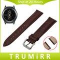 Venda de reloj de 20mm de liberación rápida primera capa de cuero genuino para samsung gear s2 classic r732 r735 moto 360 2 42mm hombres de la correa pulsera