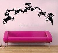 オートバイスタント壁ステッカーバイクポスター壁デカールビニールステッカー黒アート壁紙adesivoデparede diy家の装飾