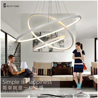 40CM 60CM 80CM Modern Chandelier Lights Circle 3 Rings Fashional Led Chandelier Lamp For Dining Room